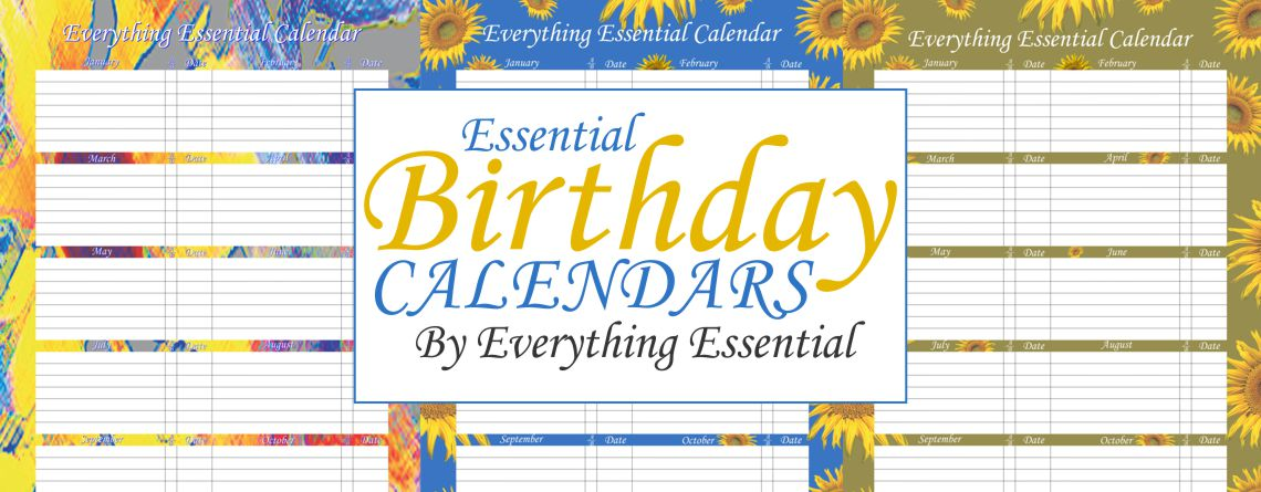Buy Everything Essential Birthday Calendars
