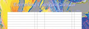Everything Essential Birthday Calendars - Bright Abstract