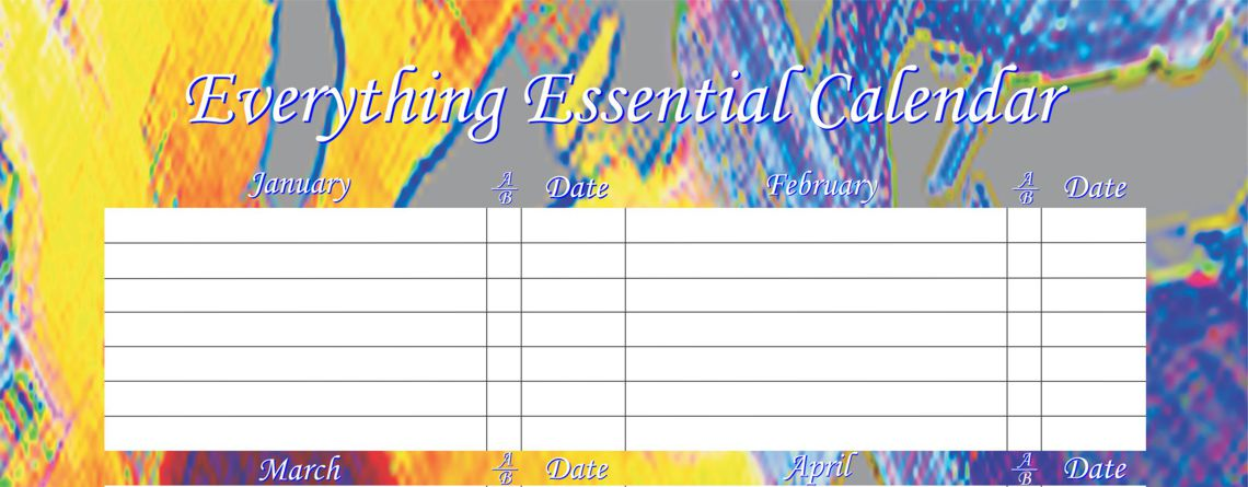 Enjoy Our Bright Abstract Birthday Calendars
