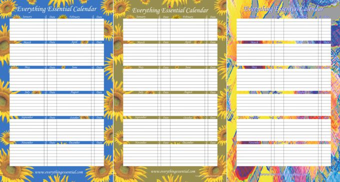 Everything Essential Birthday Calendars