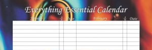 Everything Essential Birthday Calendars - Liquid Crystal