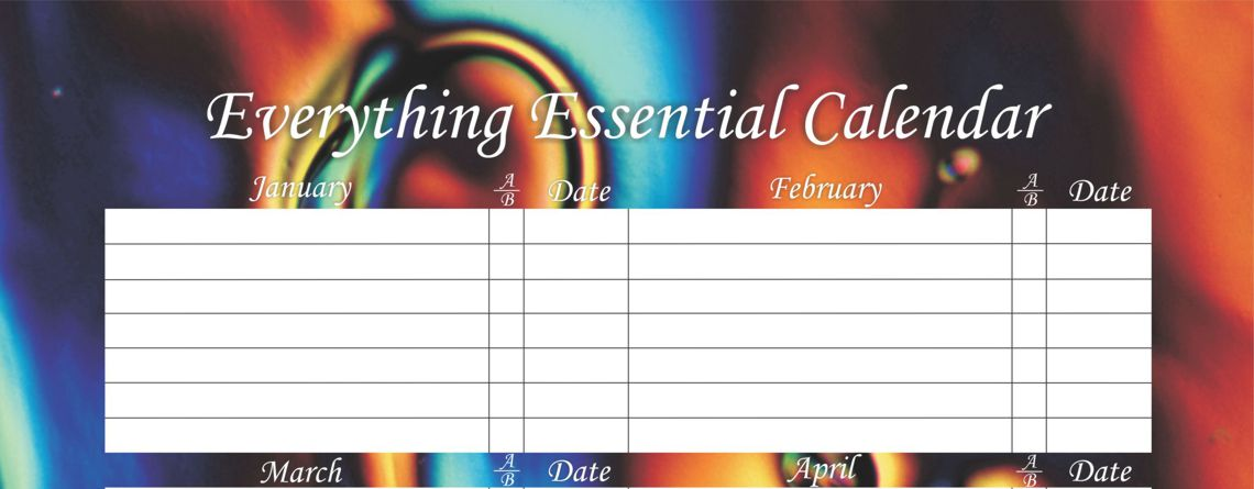 Enjoy Our Liquid Crystal Birthday Calendars