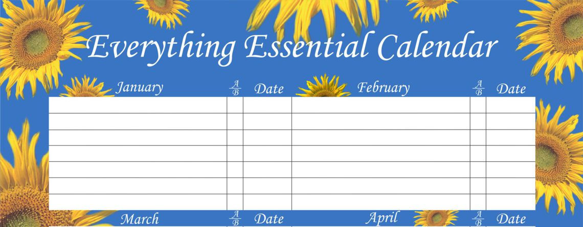 Enjoy Our Sunflower Blue Birthday Calendars