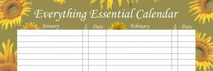 Everything Essential Birthday Calendars - Sunflower Green